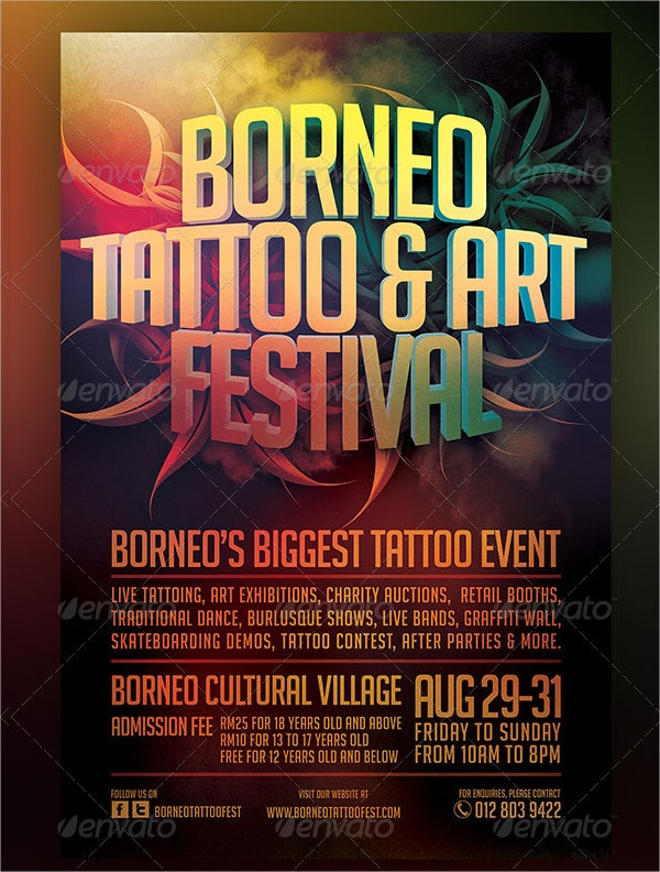 TATTOO & ART FESTIVAL FLYER