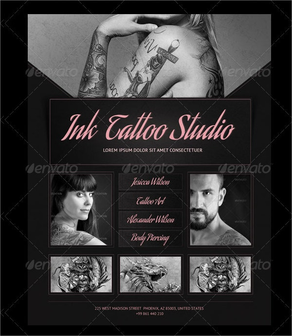Ink Tattoo Studio Flyer