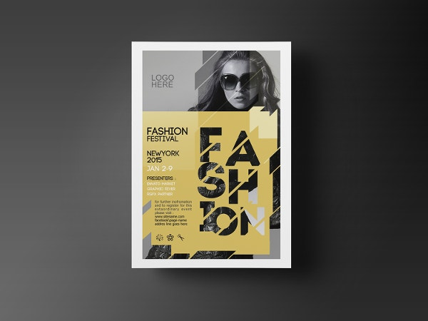 festival fashion flyer