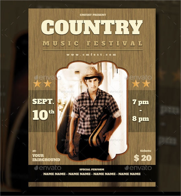 country music festival flyer