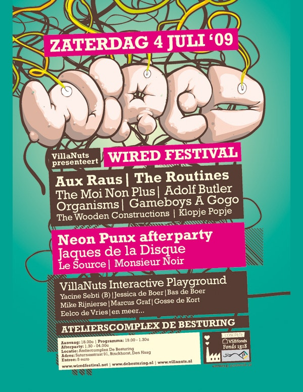 wired festival flyer