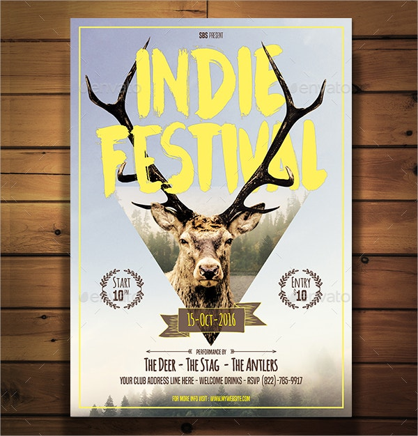 indie festival flyer