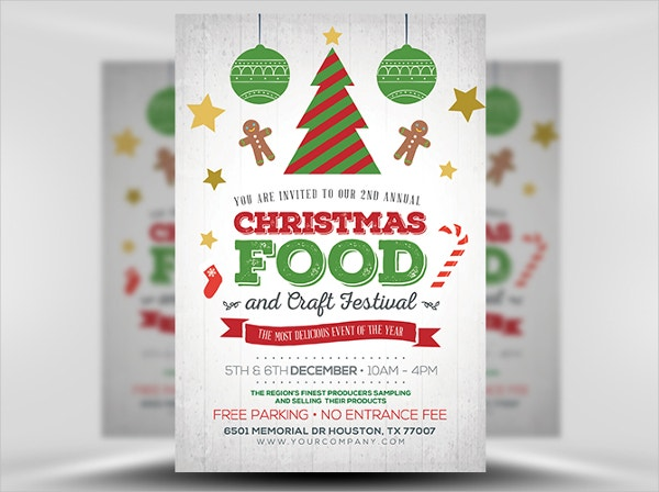 christmas food crafts festival flyer