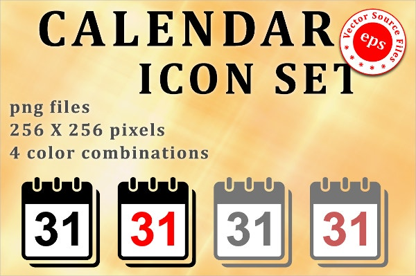 Set of Calendar Icons