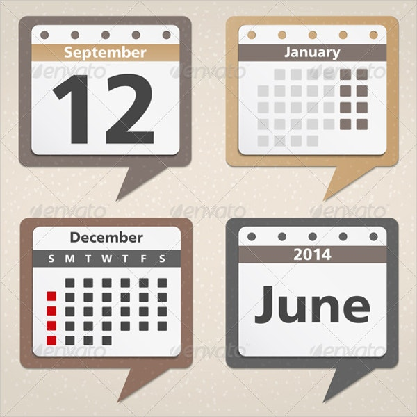 Business Calendar Icons Set