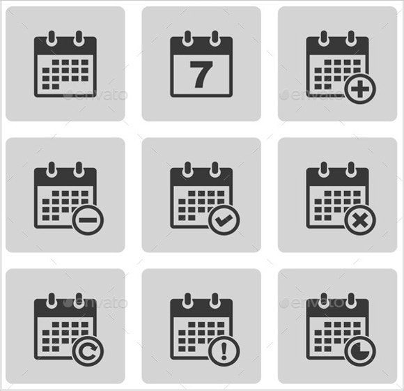 Pictogram Calendar Icons