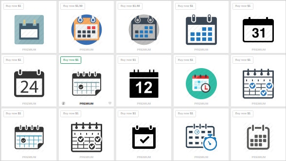 Set of Beautiful Calendar Icons