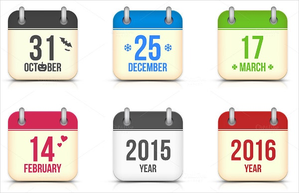 Holidays Vector Icons Set