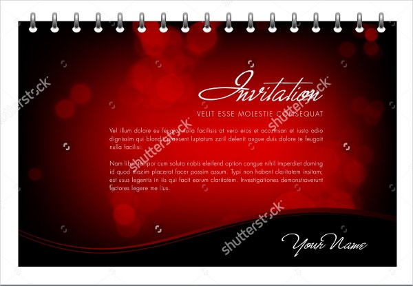 valentine invitation card template