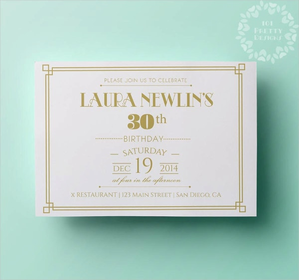 elegant gold birthday invitation template
