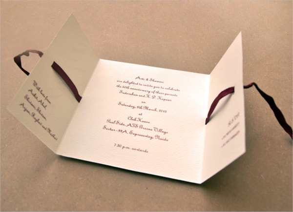 elegant anniversary invitation design