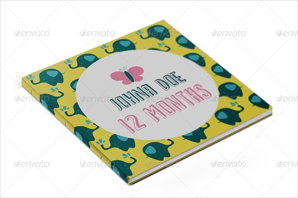 12 Months Baby Book Template