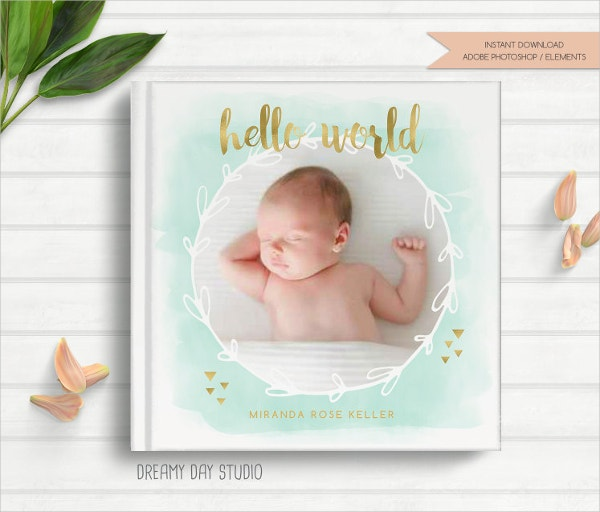 New Born Baby Photo Cover Template