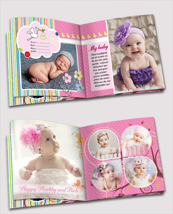 customised baby photo albumtemplate