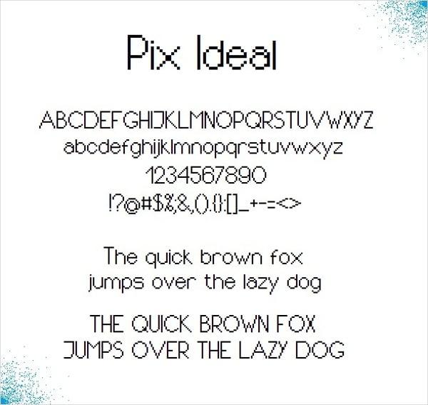 Pixel Font Ideal Font