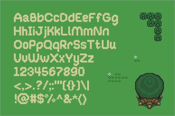8-Bit Pixel Bubble Font
