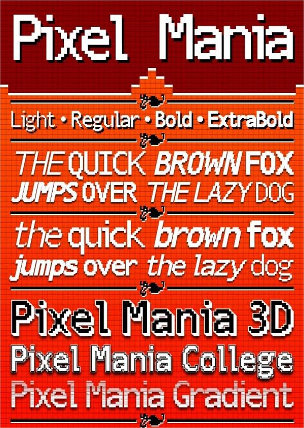 Pixel Mania Font