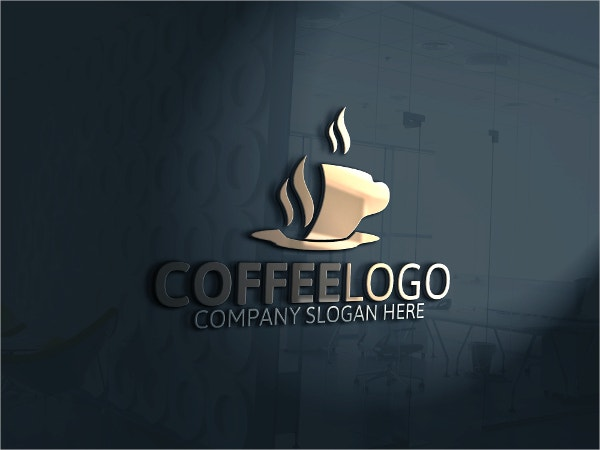 clean coffee logo template