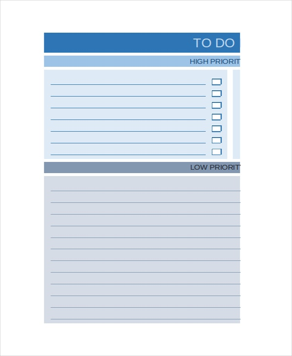 excel to do template