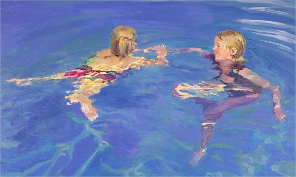 Afloat Swimming Pool Painting