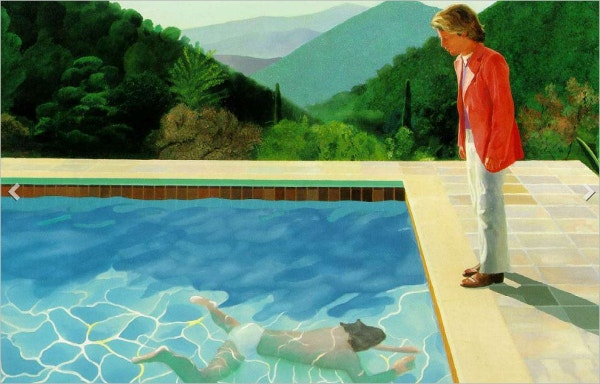Pool with Two Figures Painting