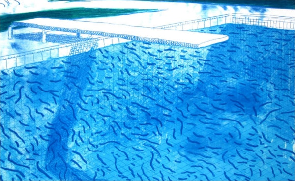 Thick and Thin Lines Swimming Pool Painting