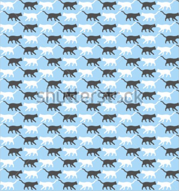 vintage cat pattern