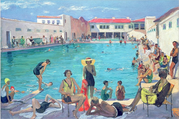 Winter In Florida Swimming Pool Painting