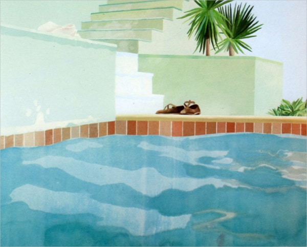 Swimming Pool and Steps Painting