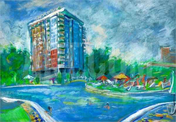 Hotel & Swimming Pool Painting