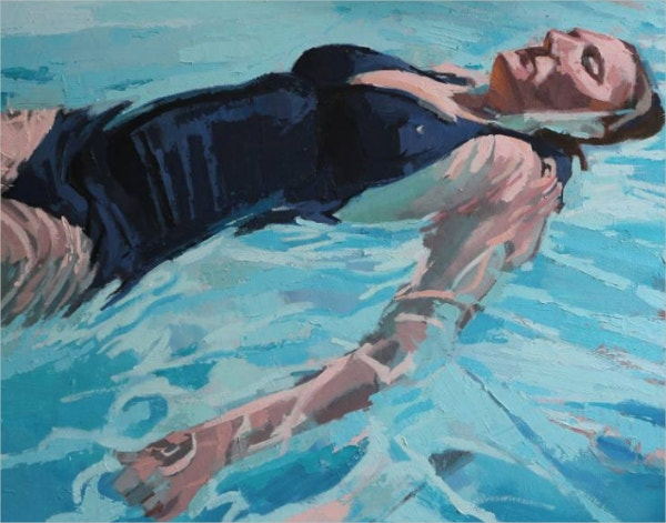 Sam in The Pool Best Painting