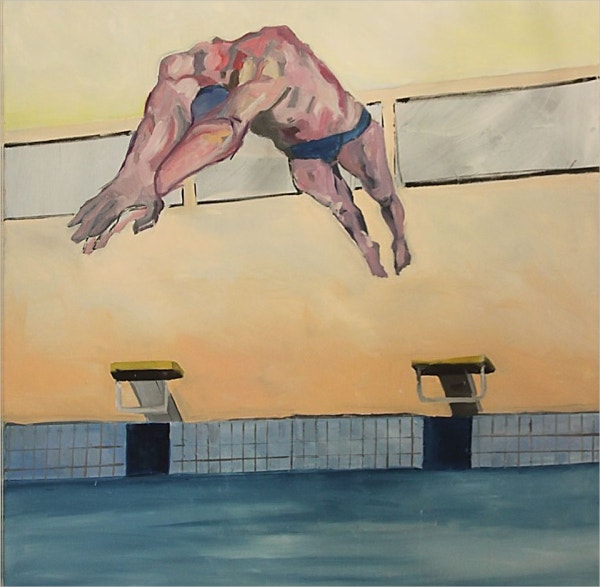 Jumping in the Pool Paining