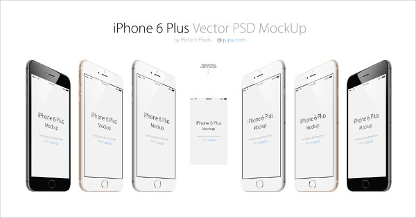 Apple's iPhone 6 plus Vector Mockup