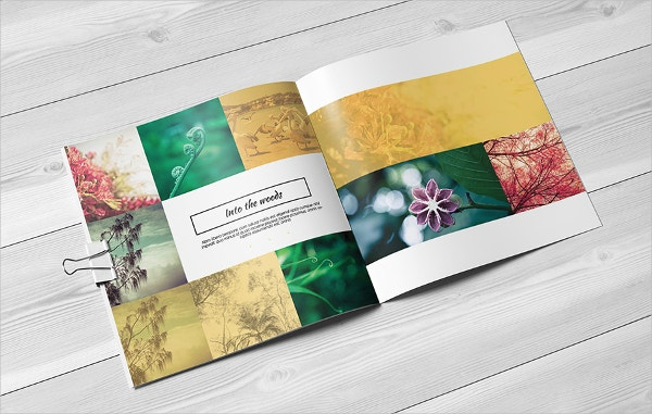 Multipurpose Square Flat Brochure Design