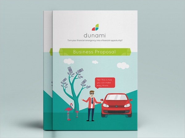 Dunami Flat Design Brochure Cover