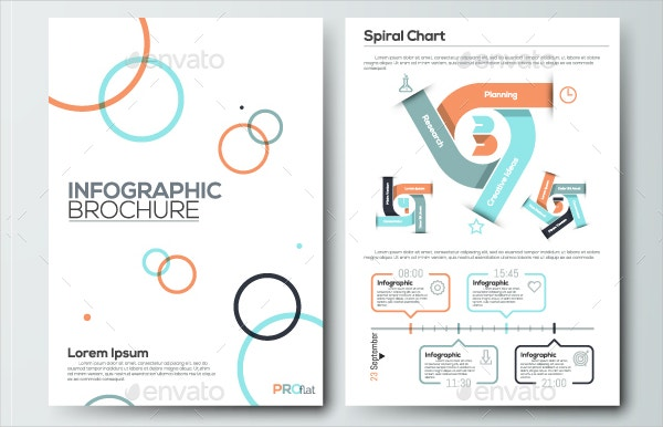 Pro Flat Infographic Brochure Design