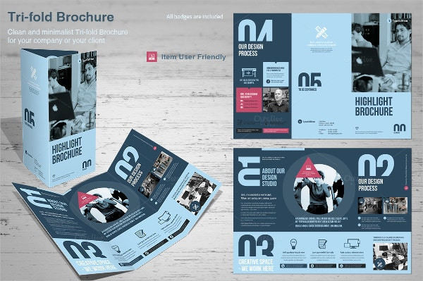 Tri-Fold Corporate Flat Design Brochure