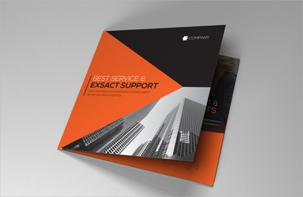 Indesign Brochure Red-Black Flat Design