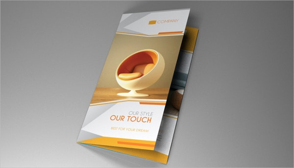 Brochure Furniture Flat Design Template
