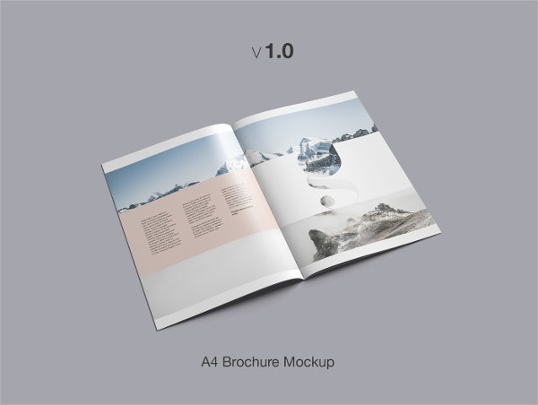 Advanced A4 Brochure Mockup Flat Design