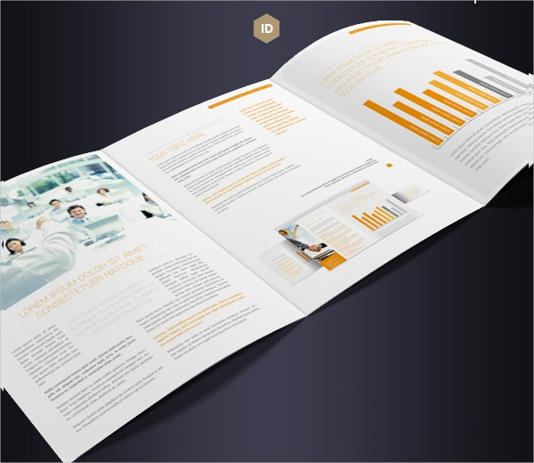 Brochure Tri-Fold A4 Series Flat Design