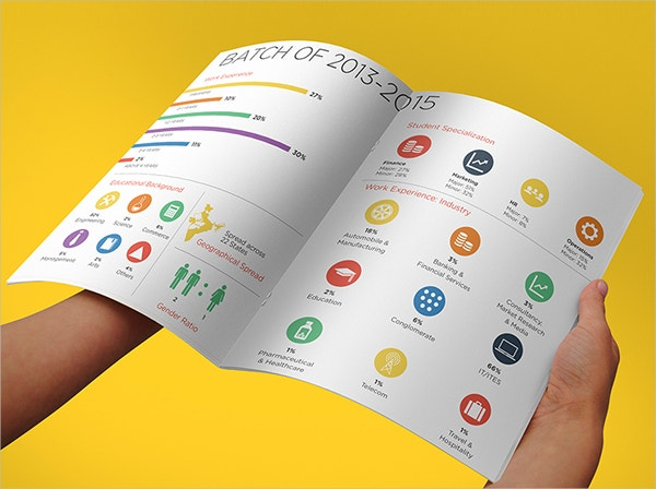 GIM Brochure Flat Design Template