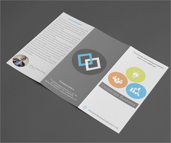 Corporate Tri-Fold Flat Brochure Design