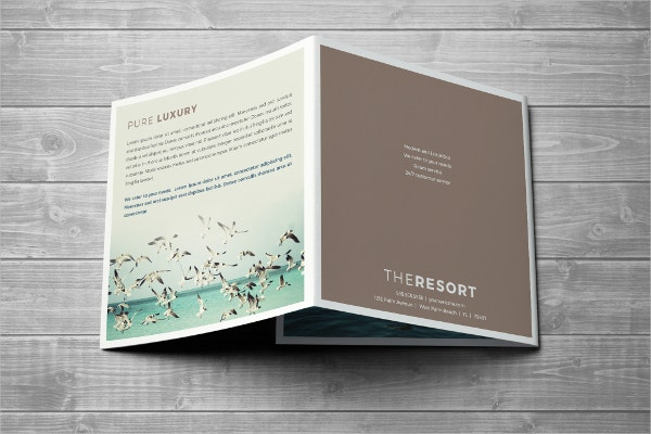 Resort Flat Design Trifold Square Brochure