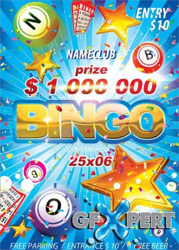 Free Bingo V4 PSD Flyer