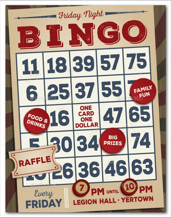 bingo event flyer