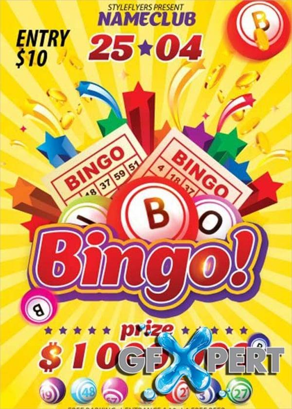 Bingo V1 PSD Flyer