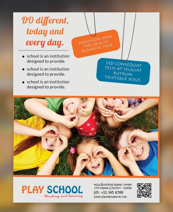 Freebie of The Day - Play School Flyer