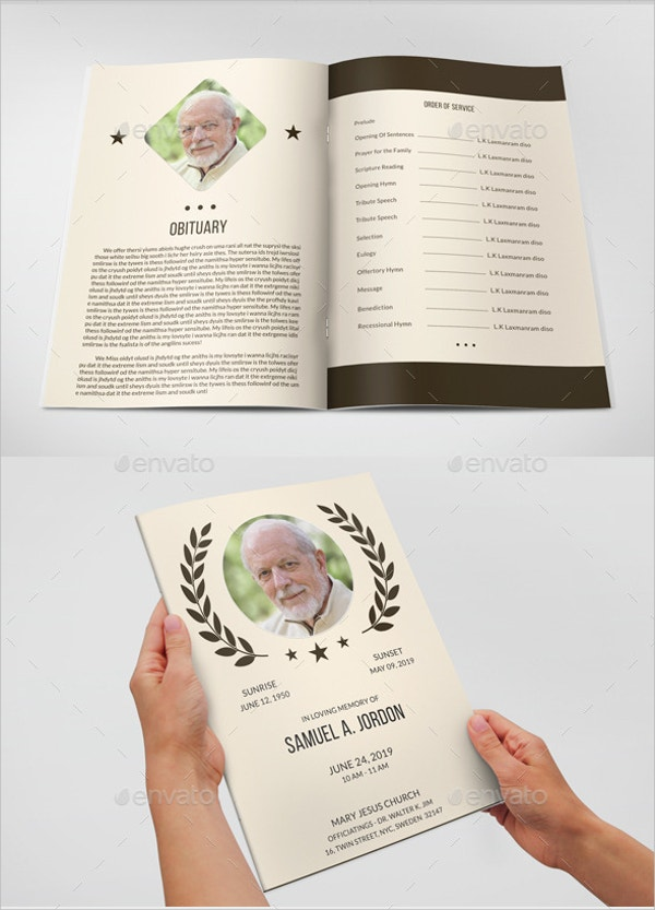 8+ Funeral Program Template for a Friend - Free PSD, AI, EPS ...
