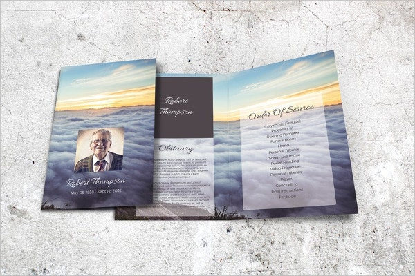 Friend Memorial Funeral Program Template